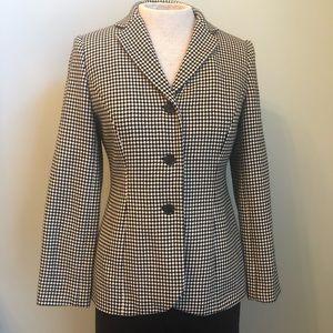 Ann Taylor Black & White Check Blazer Size 4P
